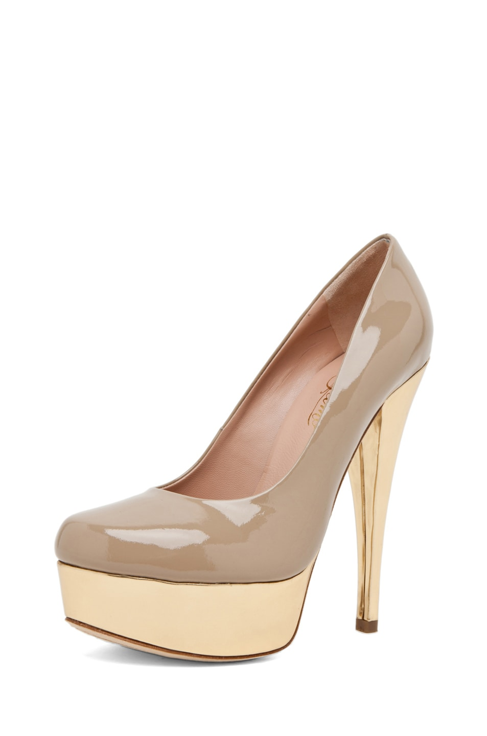 Image 2 of Alejandro Ingelmo Sophia Pump in Sand/Gold