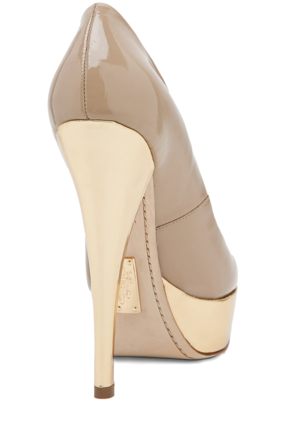 Image 3 of Alejandro Ingelmo Sophia Pump in Sand/Gold