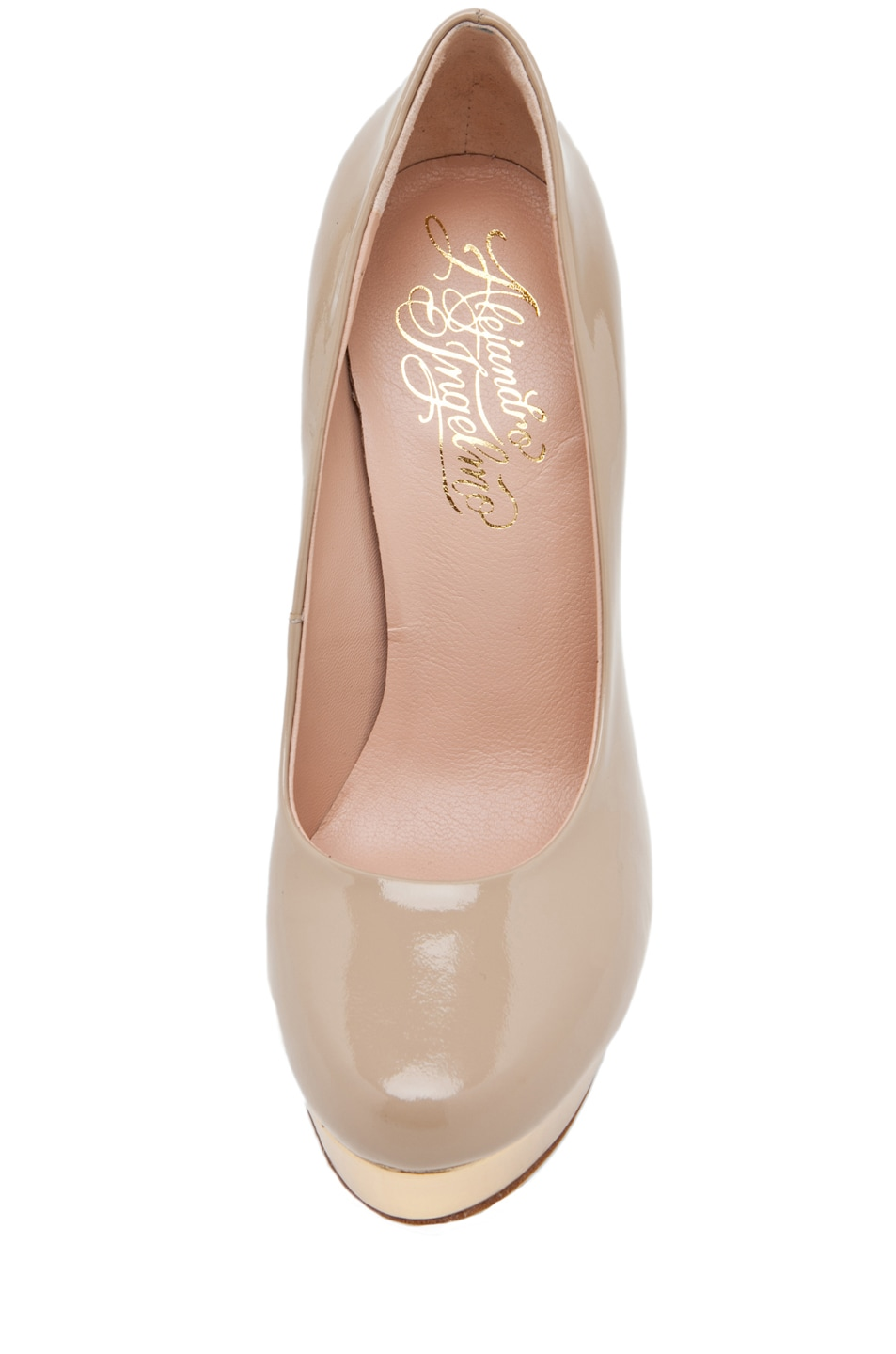 Image 4 of Alejandro Ingelmo Sophia Pump in Sand/Gold