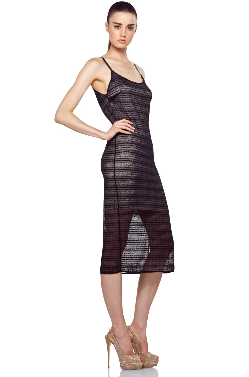 Image 3 of Alice + Olivia Villa Dress in Black