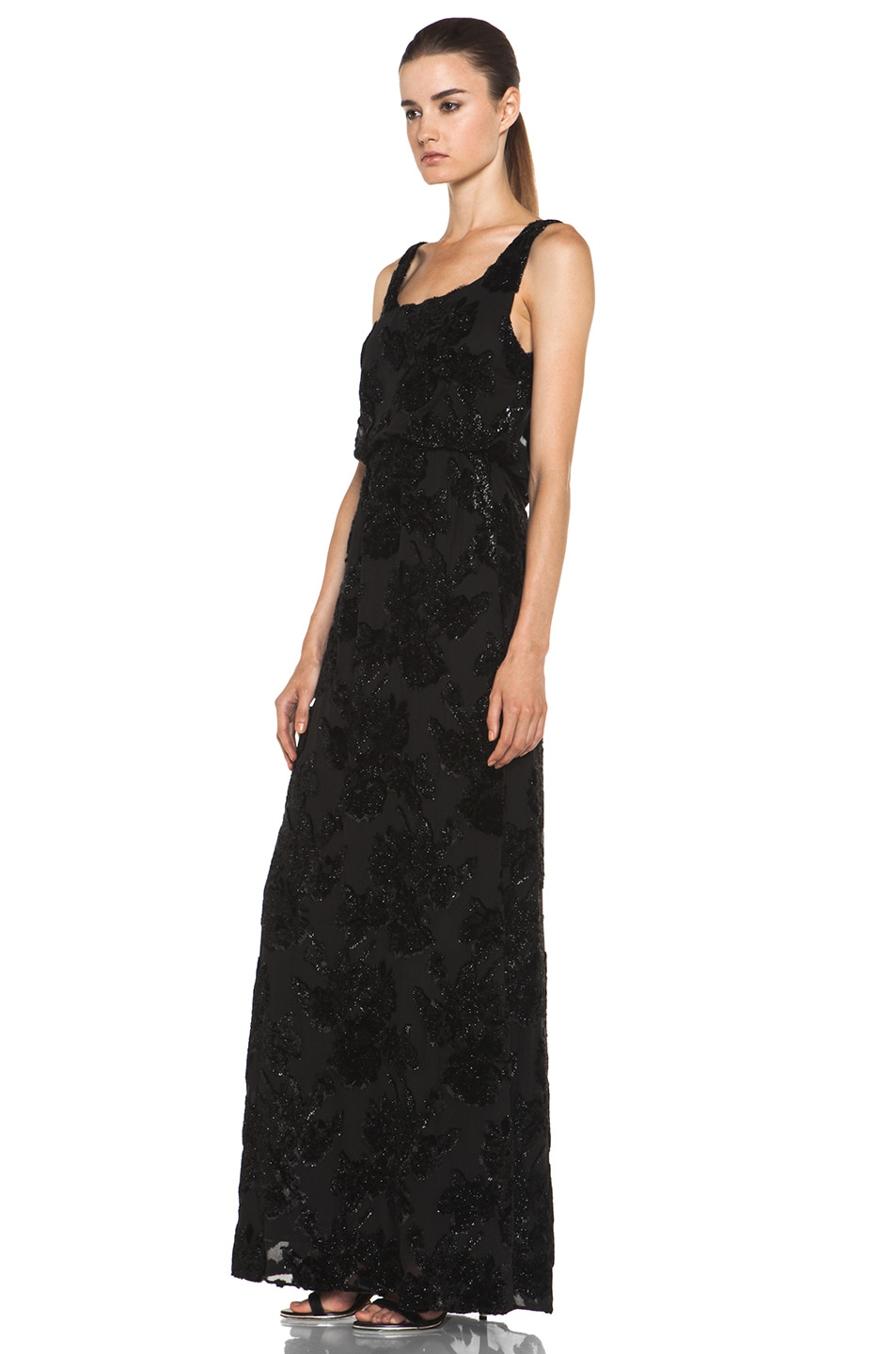 Image 2 of Alice + Olivia Shirley Long Blouson Dress in Black