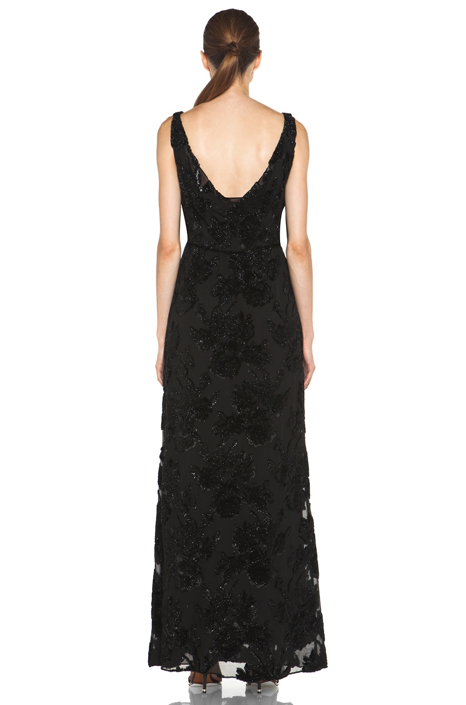Image 4 of Alice + Olivia Shirley Long Blouson Dress in Black