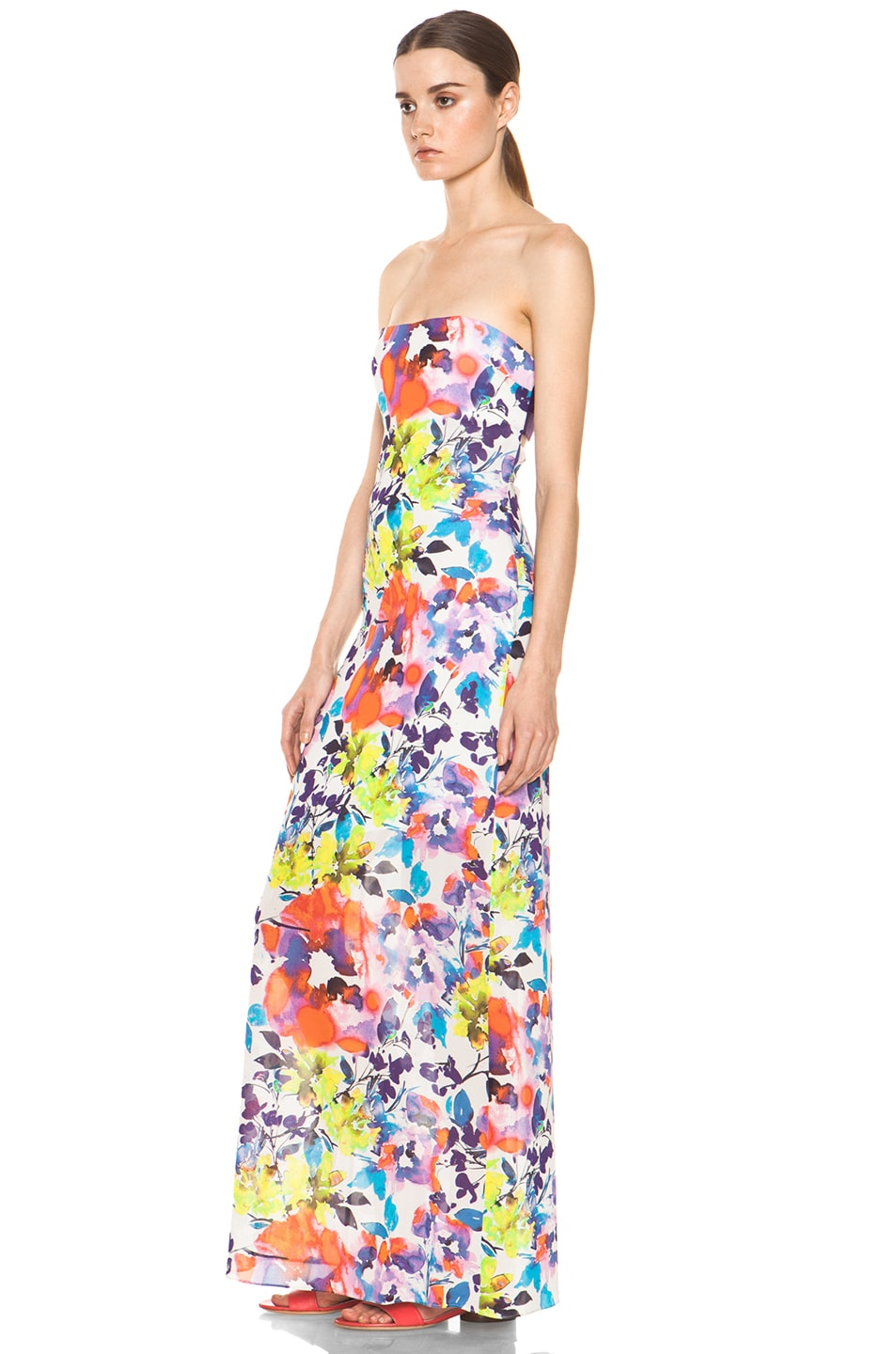 Image 2 of Alice + Olivia Koko Strapless Maxi Dress in Cruise Floral