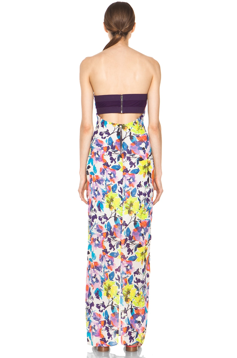 Image 4 of Alice + Olivia Koko Strapless Maxi Dress in Cruise Floral