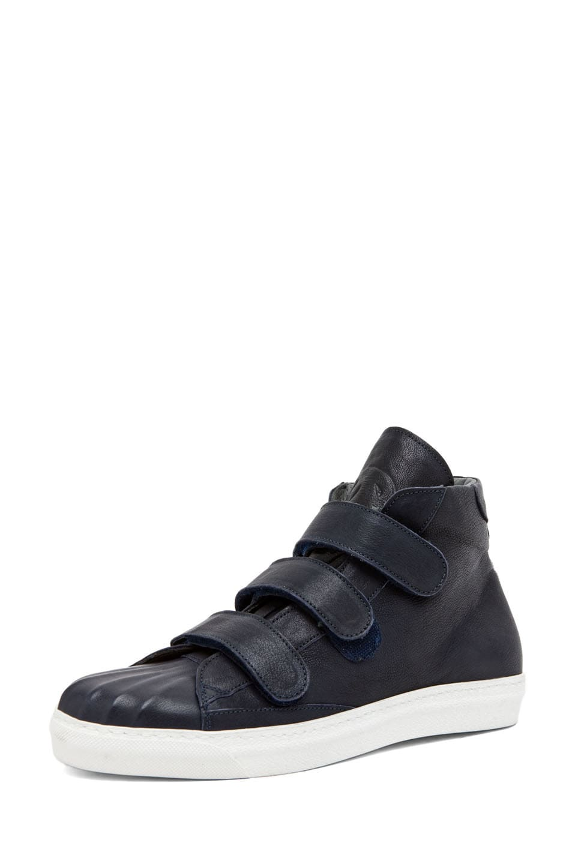 Image 2 of Alexander McQueen High Top Velcro Strap Sneaker in Endless Blue