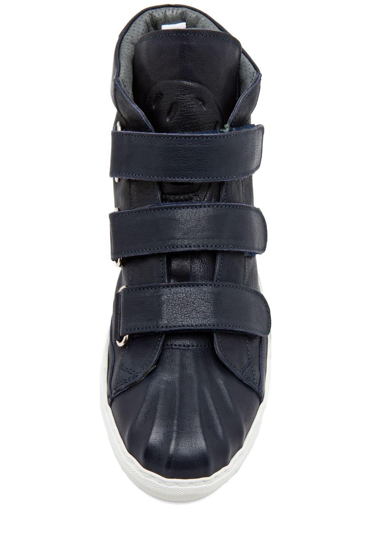 Image 4 of Alexander McQueen High Top Velcro Strap Sneaker in Endless Blue