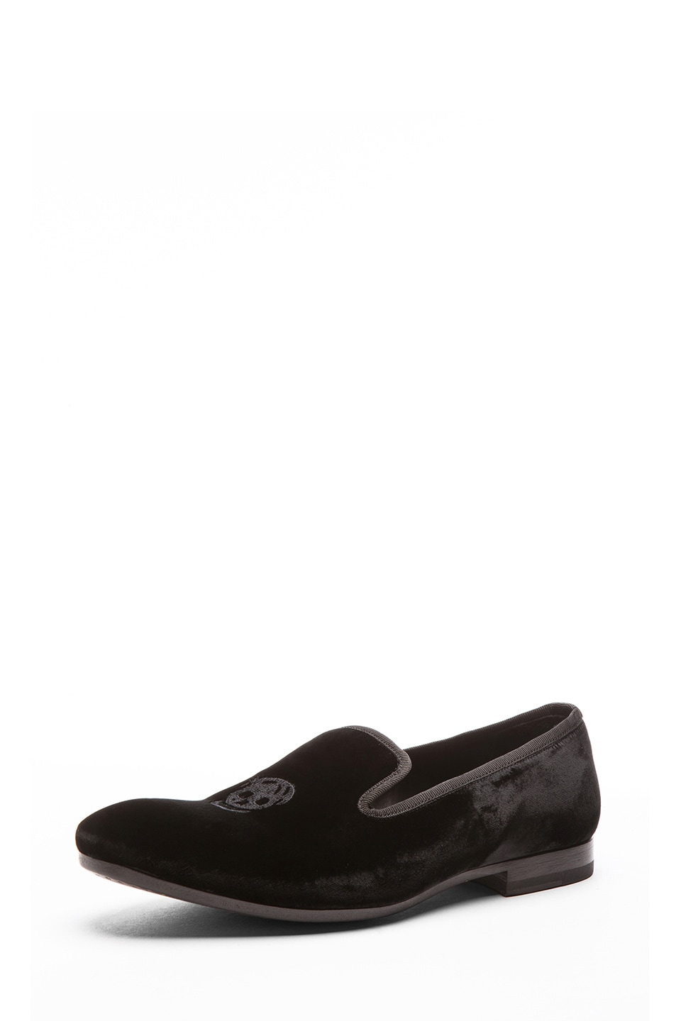 Image 2 of Alexander McQueen Velvet Loafer in Black