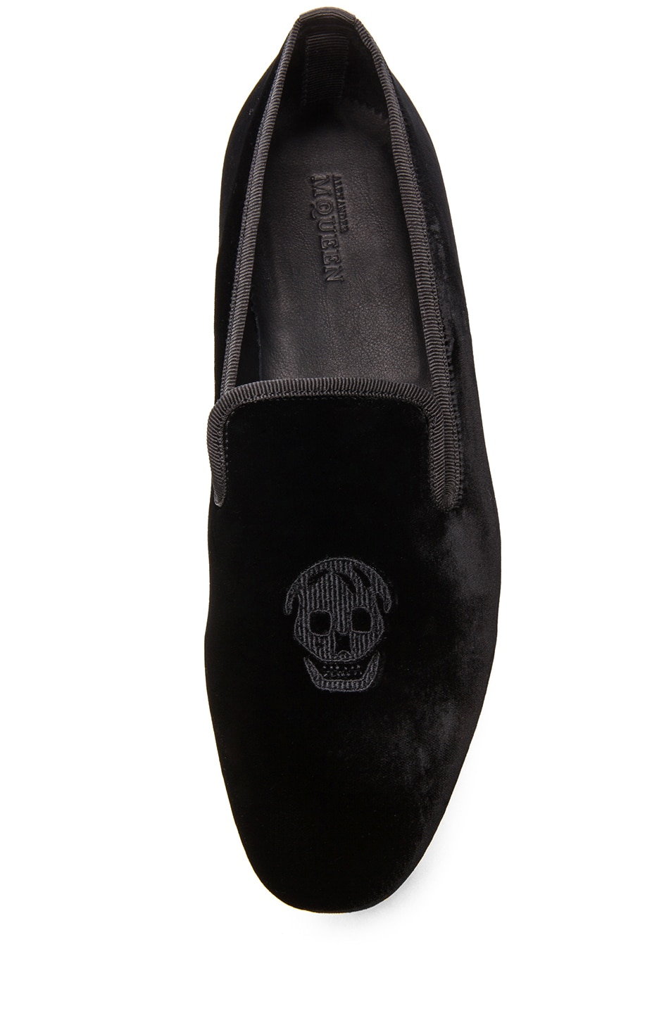 Image 4 of Alexander McQueen Velvet Loafer in Black