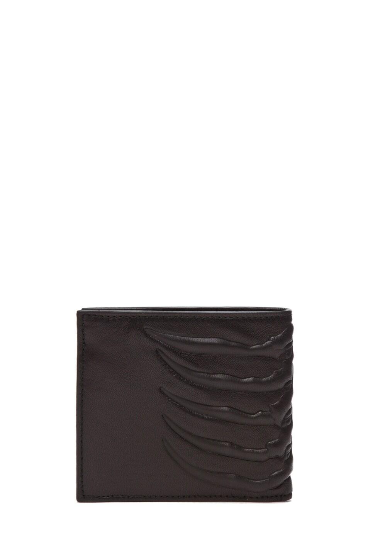 Image 1 of Alexander McQueen Ribcage Wallet in Black