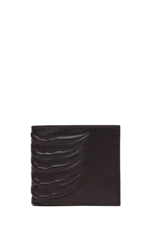 Image 2 of Alexander McQueen Ribcage Wallet in Black