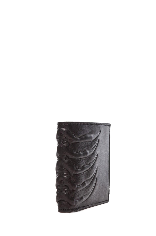 Image 3 of Alexander McQueen Ribcage Wallet in Black