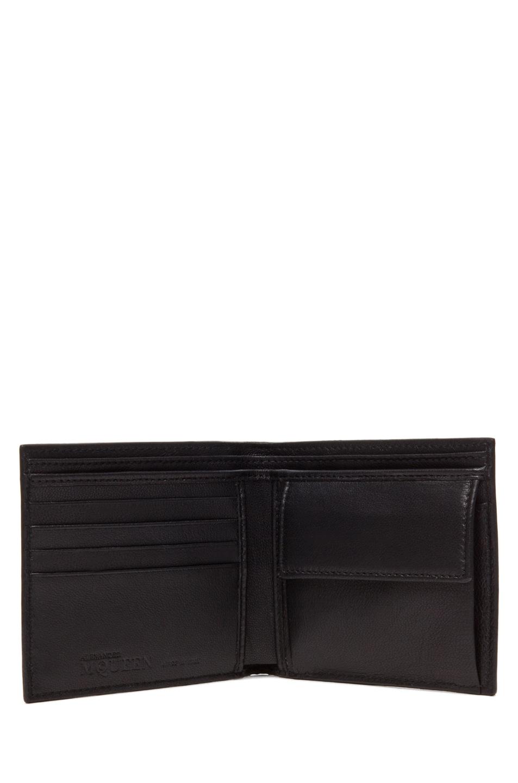 Image 4 of Alexander McQueen Ribcage Wallet in Black