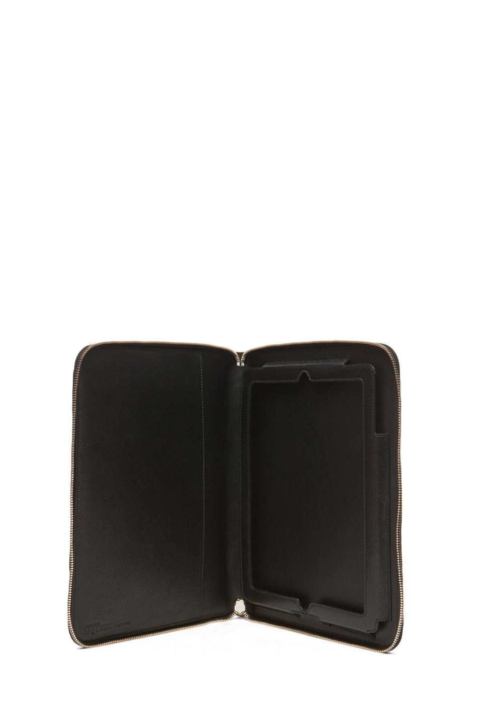 Image 4 of Alexander McQueen Zip Around iPad Case in Black