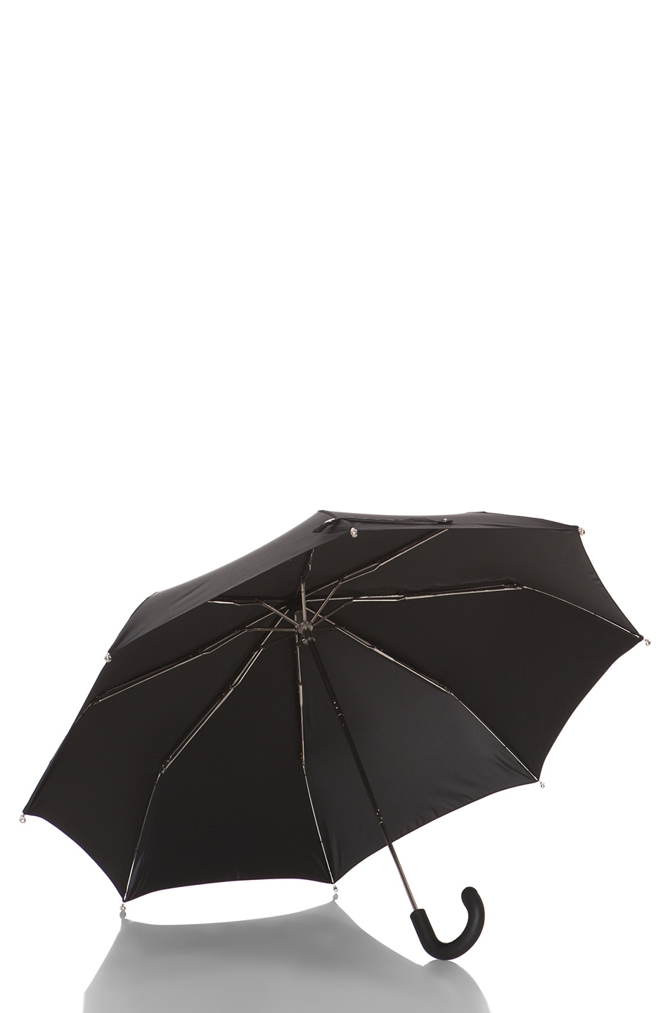 Image 4 of Alexander McQueen Silver Mini Umbrella in Black