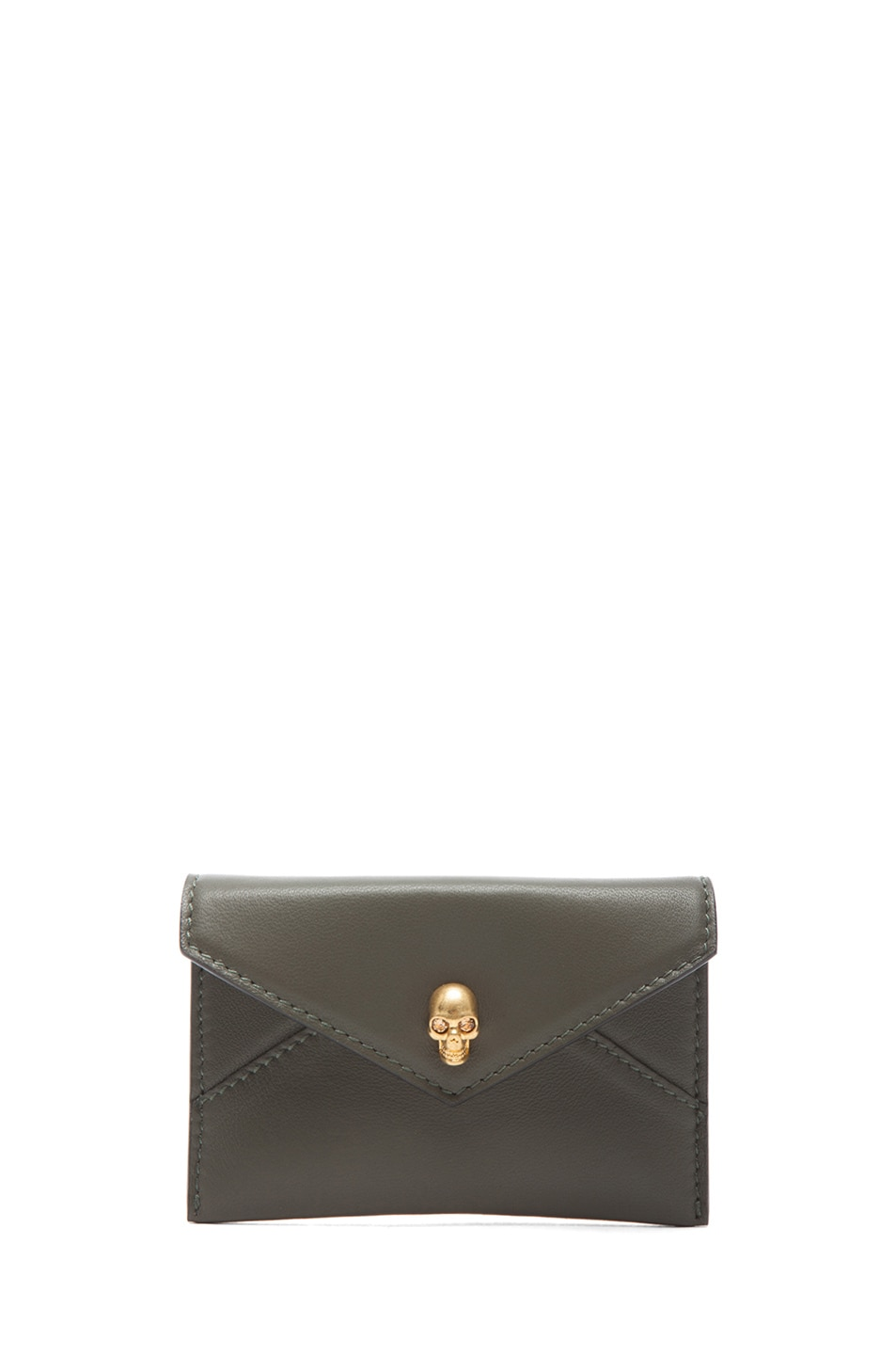 Image 1 of Alexander McQueen Envelope Card Holder in Military