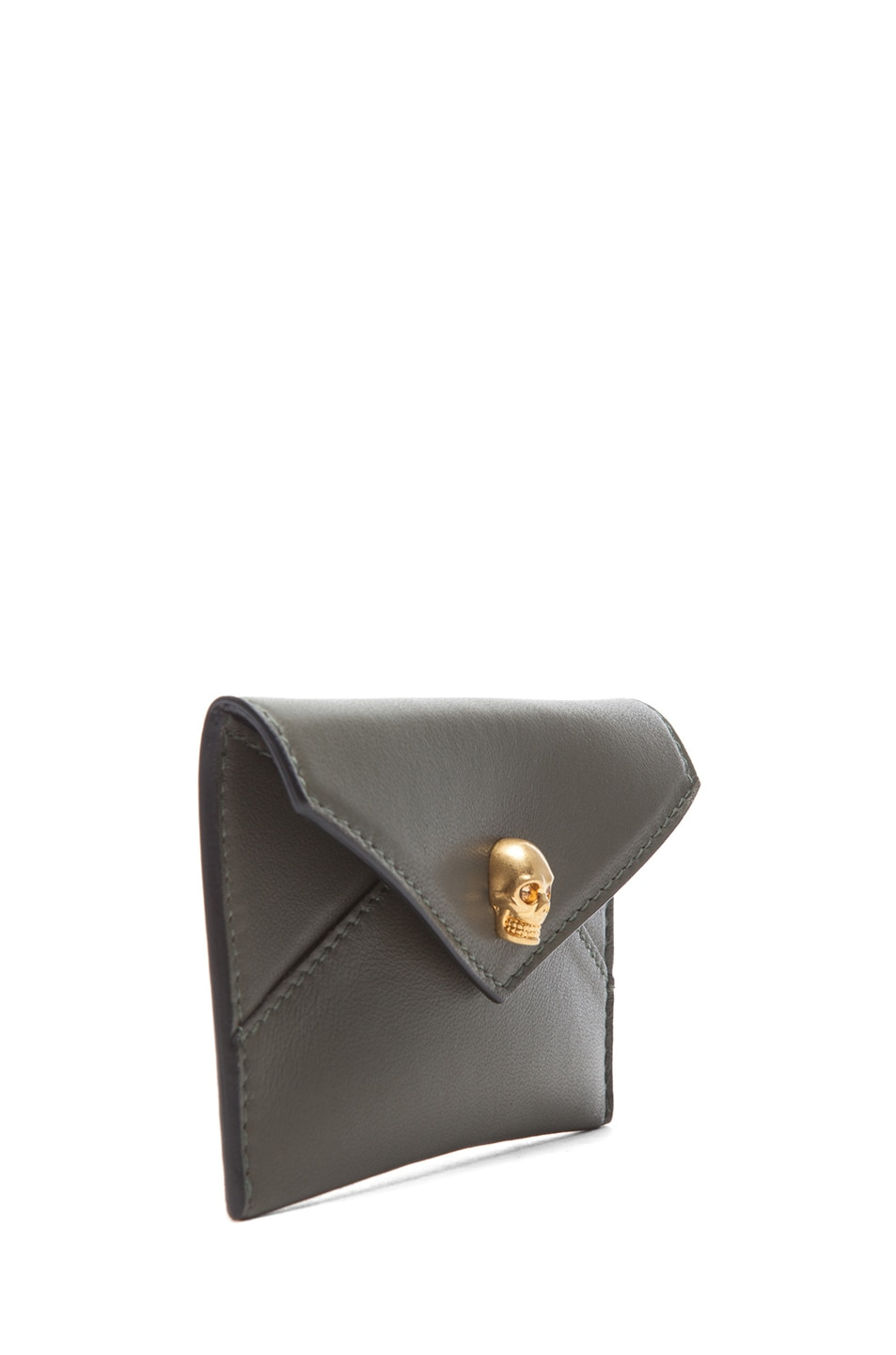 Image 3 of Alexander McQueen Envelope Card Holder in Military