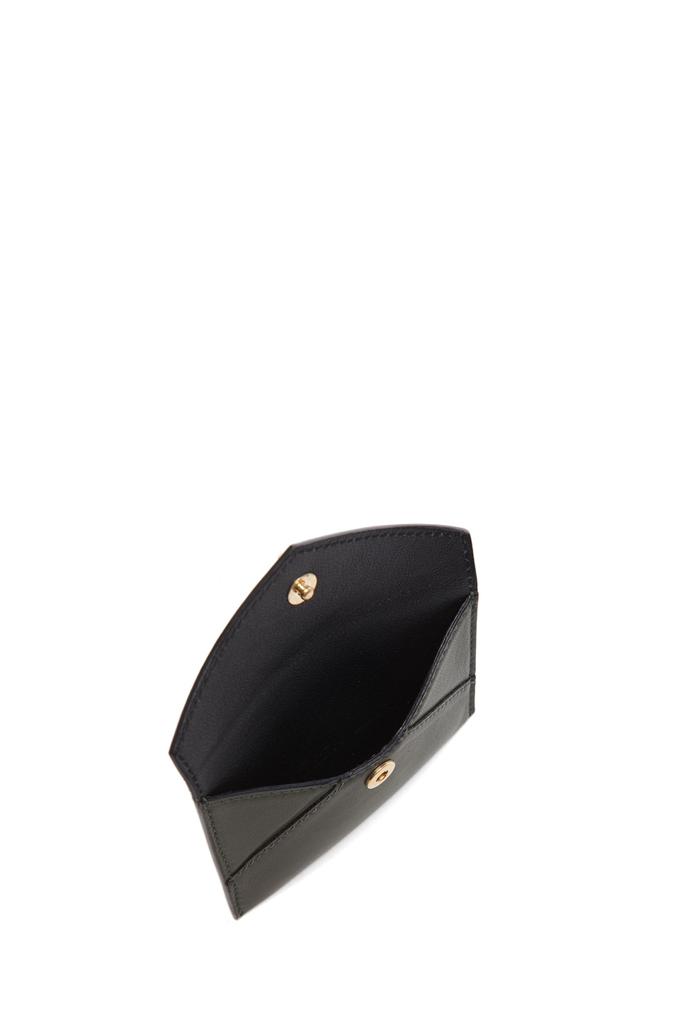 Image 4 of Alexander McQueen Envelope Card Holder in Military