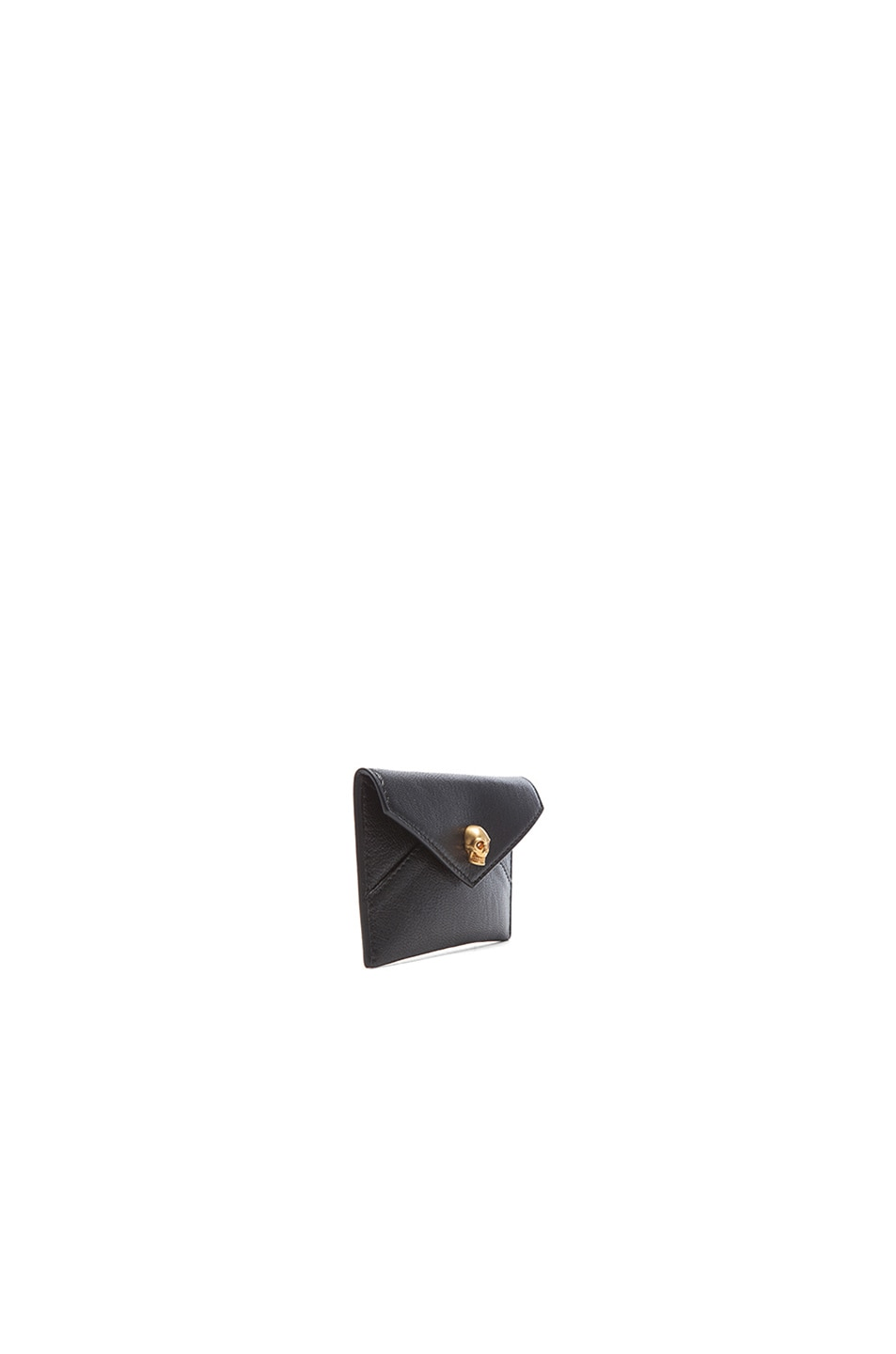 Image 3 of Alexander McQueen Envelope Card Holder in Black