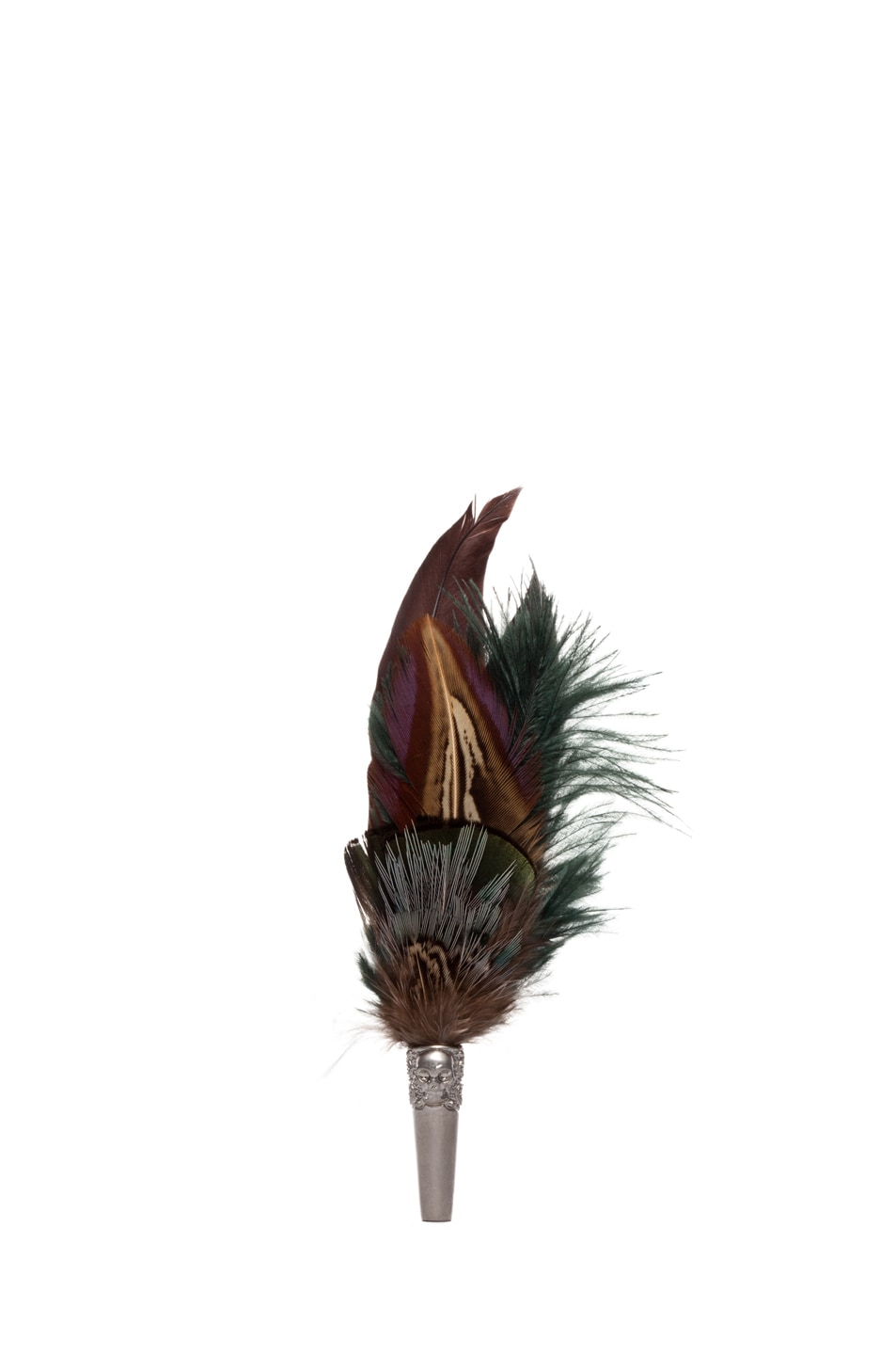 Image 1 of Alexander McQueen Short Feather Brooch in Natural