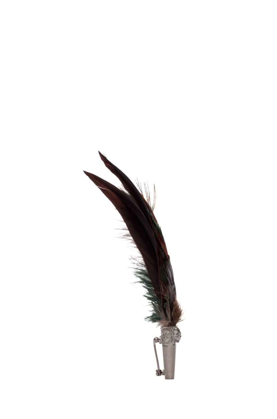 Image 2 of Alexander McQueen Short Feather Brooch in Natural