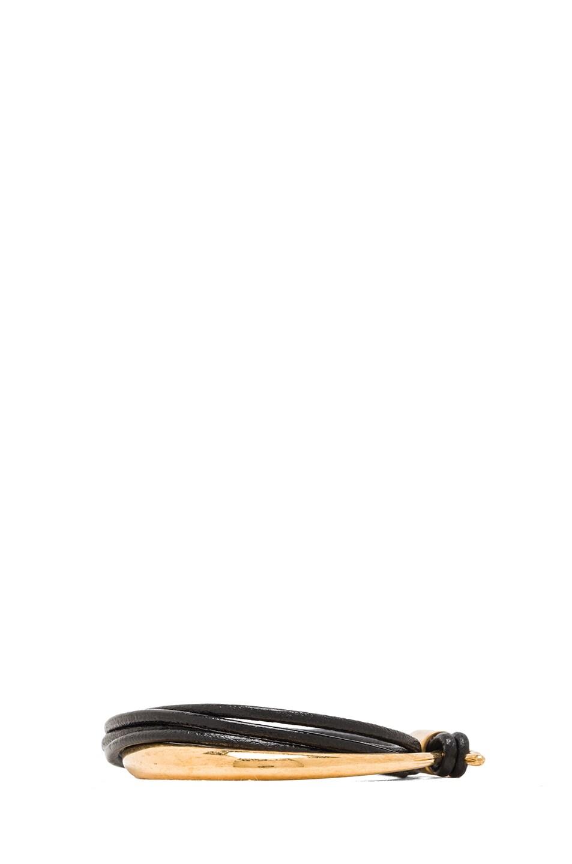 Image 2 of Alexander McQueen Link Bracelet in Black