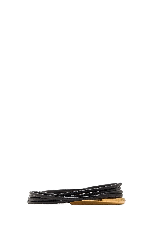 Image 3 of Alexander McQueen Link Bracelet in Black