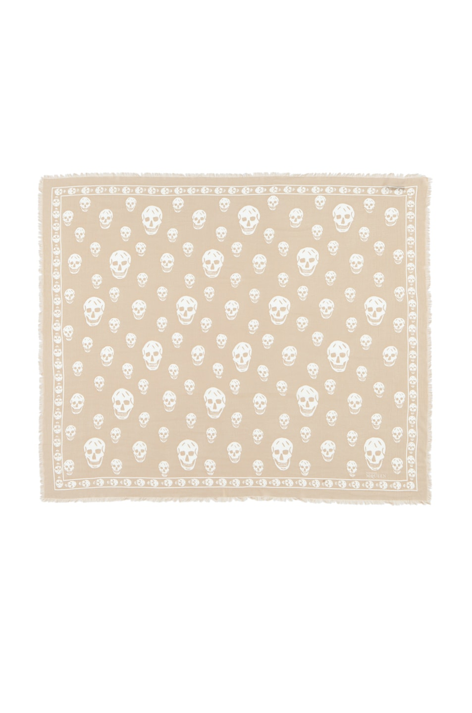 Image 1 of Alexander McQueen Modal Skull Scarf in Rope/Ivory