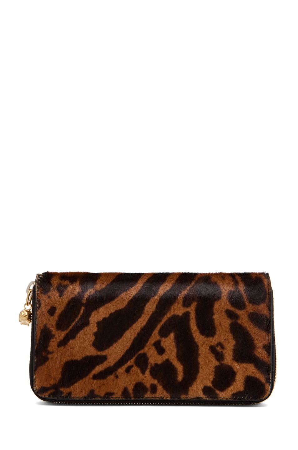 Image 2 of Alexander McQueen Zip Wallet in Natural/Black