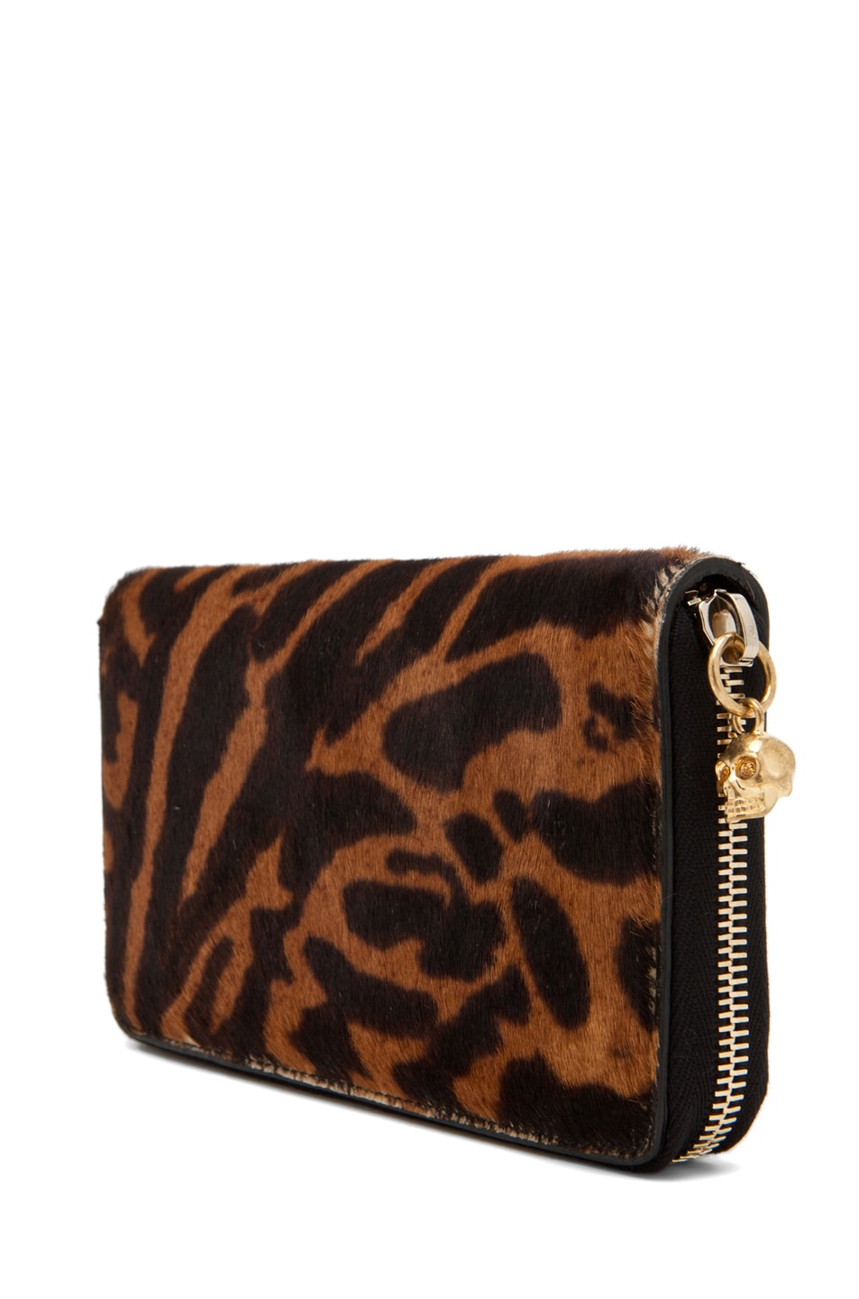 Image 3 of Alexander McQueen Zip Wallet in Natural/Black