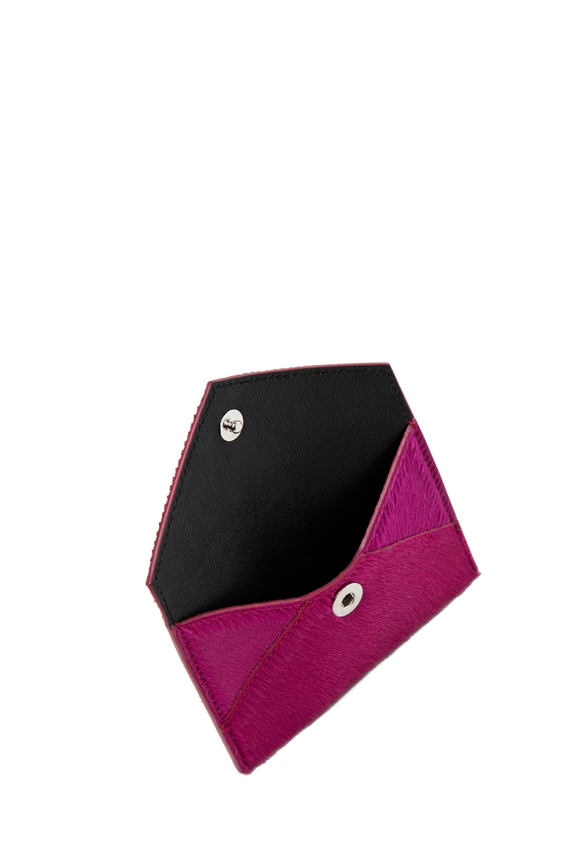 Image 4 of Alexander McQueen Envelope Card Holder in Pink