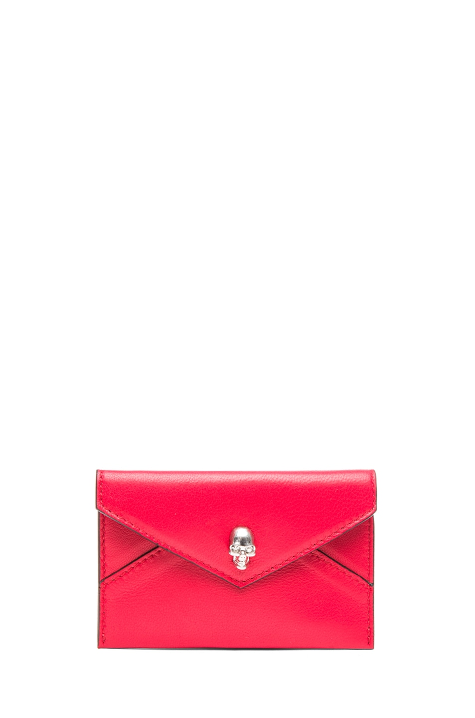 Image 1 of Alexander McQueen Envelope Card Holder in Shiny Red