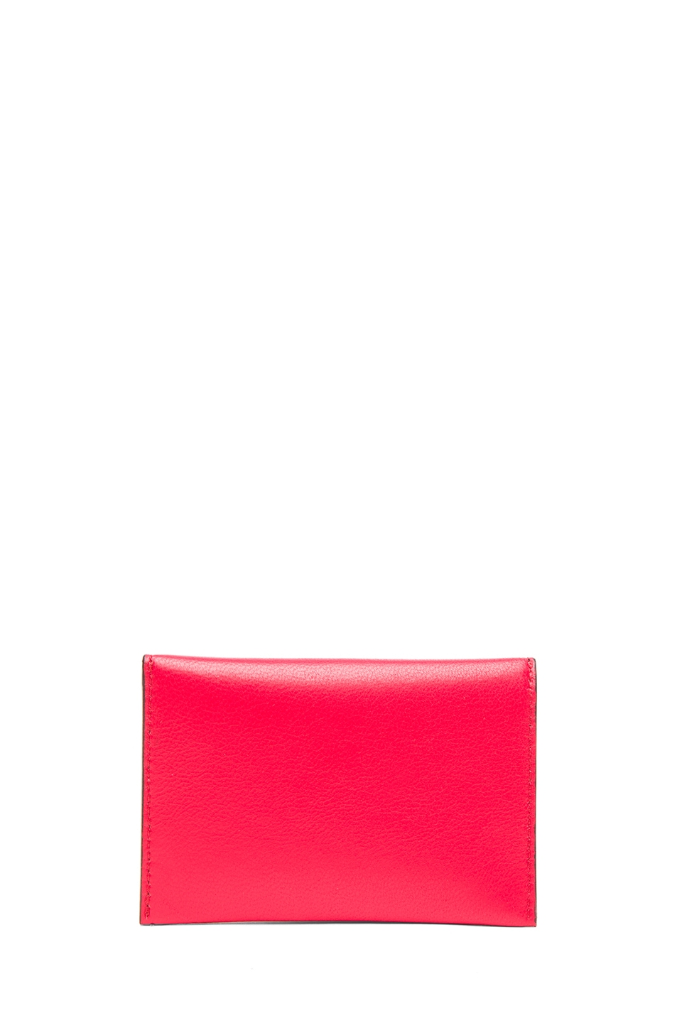 Image 2 of Alexander McQueen Envelope Card Holder in Shiny Red