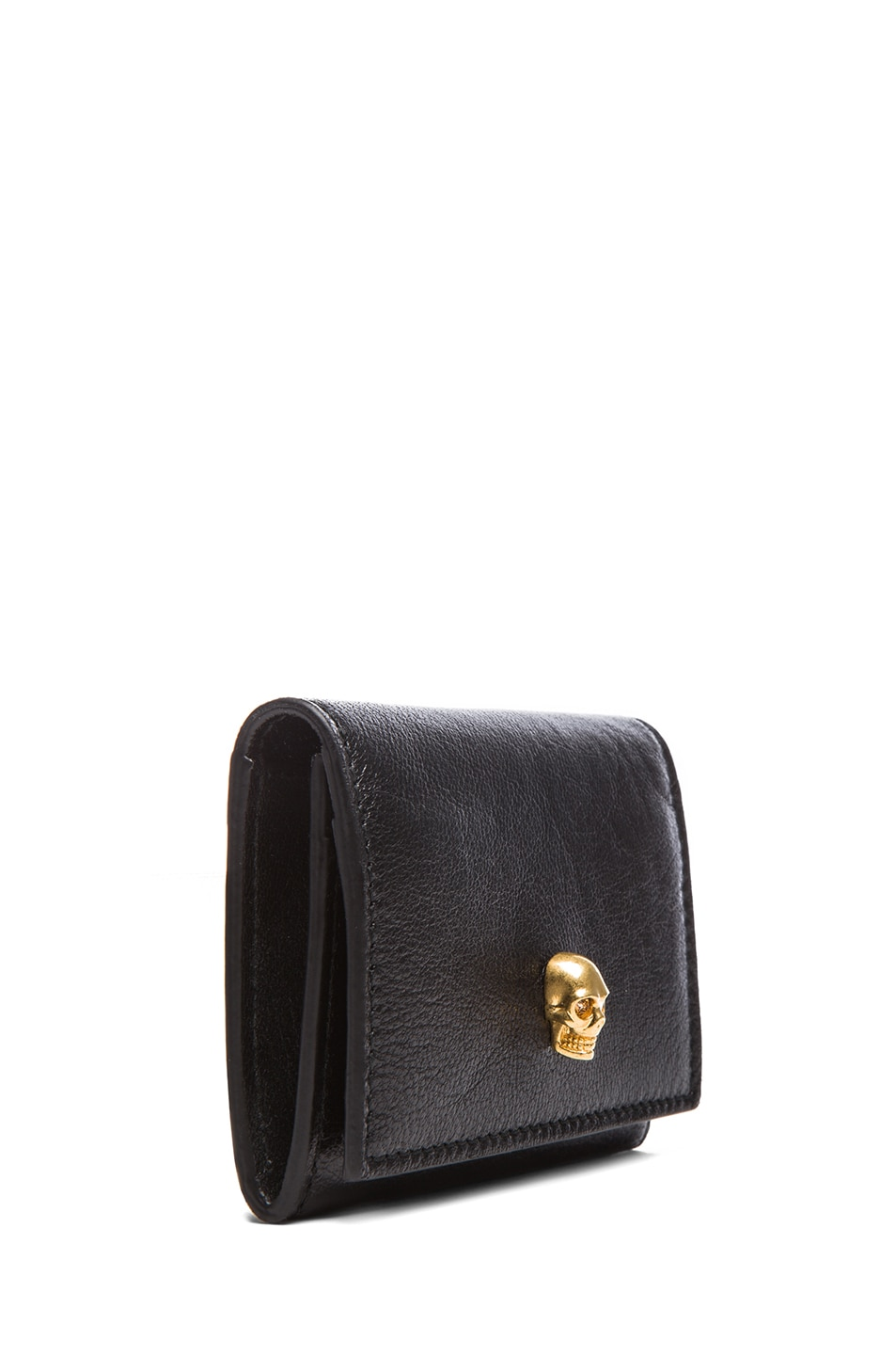 Image 3 of Alexander McQueen Fold Over Card Holder in Black