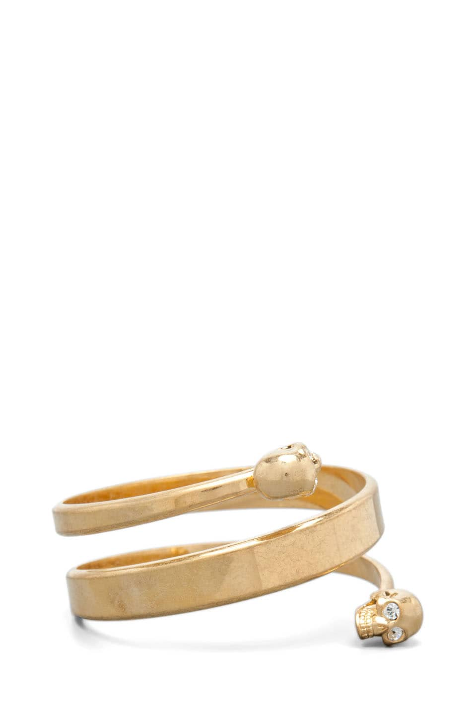 Image 4 of Alexander McQueen Twin Bracelet in Antique Gold