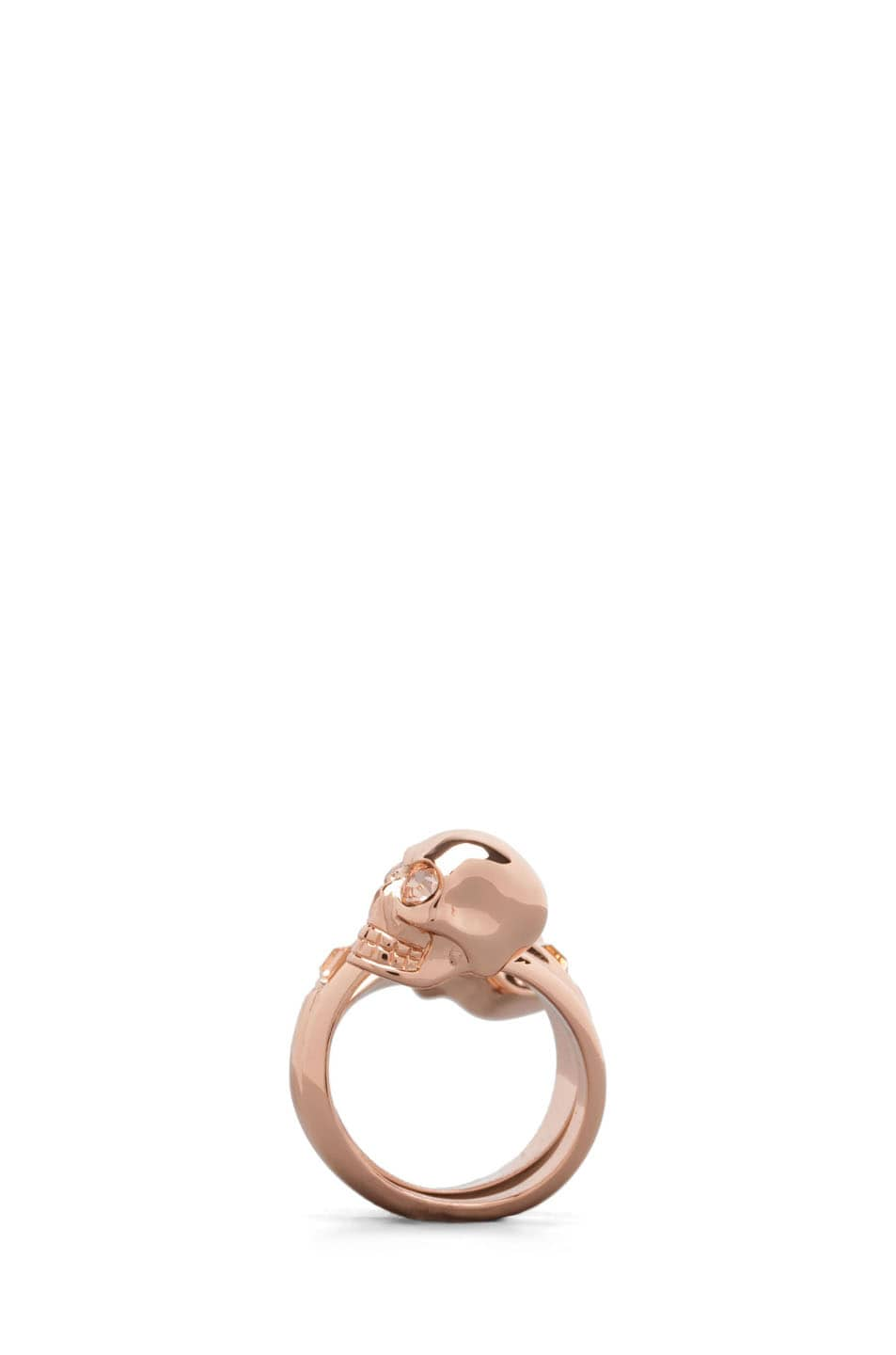 Image 2 of Alexander McQueen Twin Ring in Rose Gold