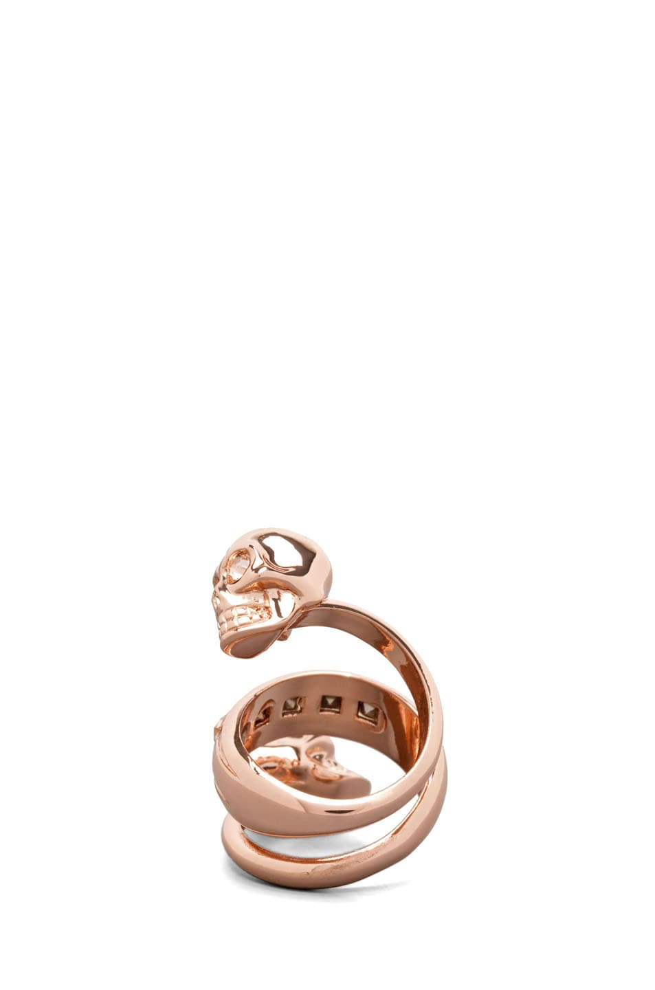 Image 4 of Alexander McQueen Twin Ring in Rose Gold