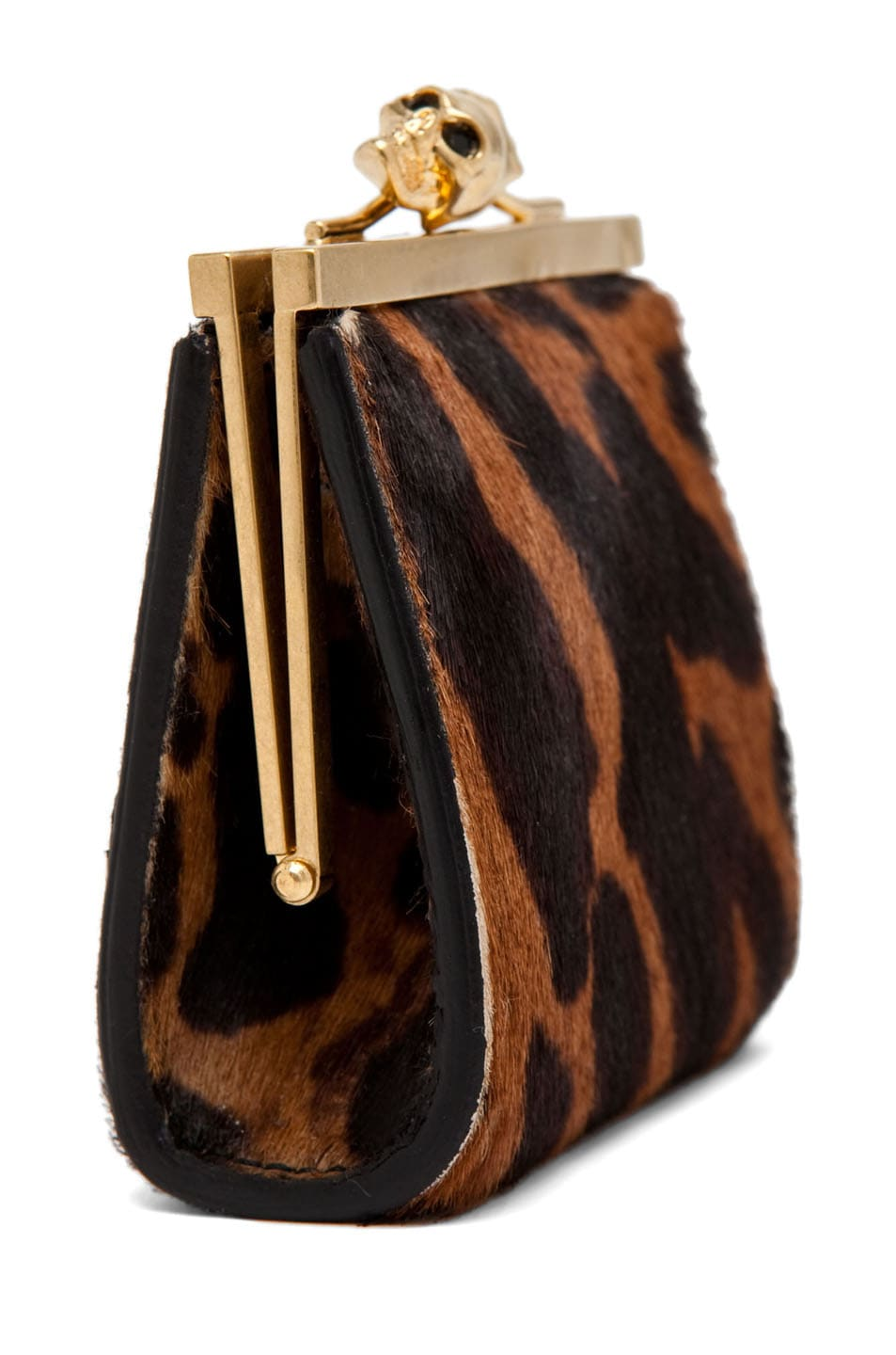 Image 3 of Alexander McQueen Coin Purse in Natural/Black