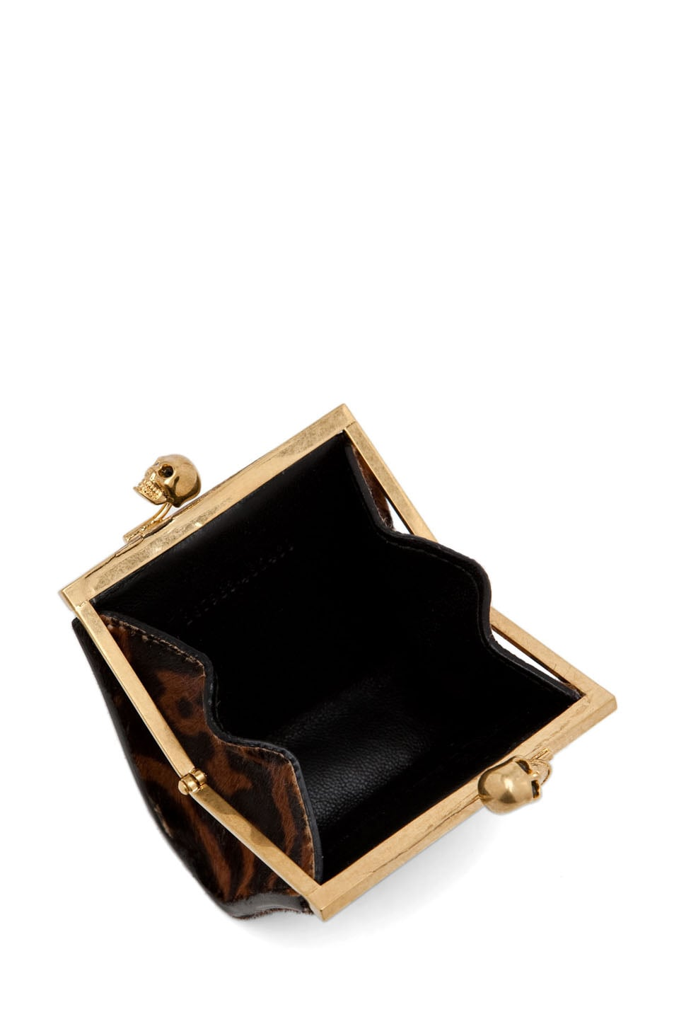 Image 4 of Alexander McQueen Coin Purse in Natural/Black