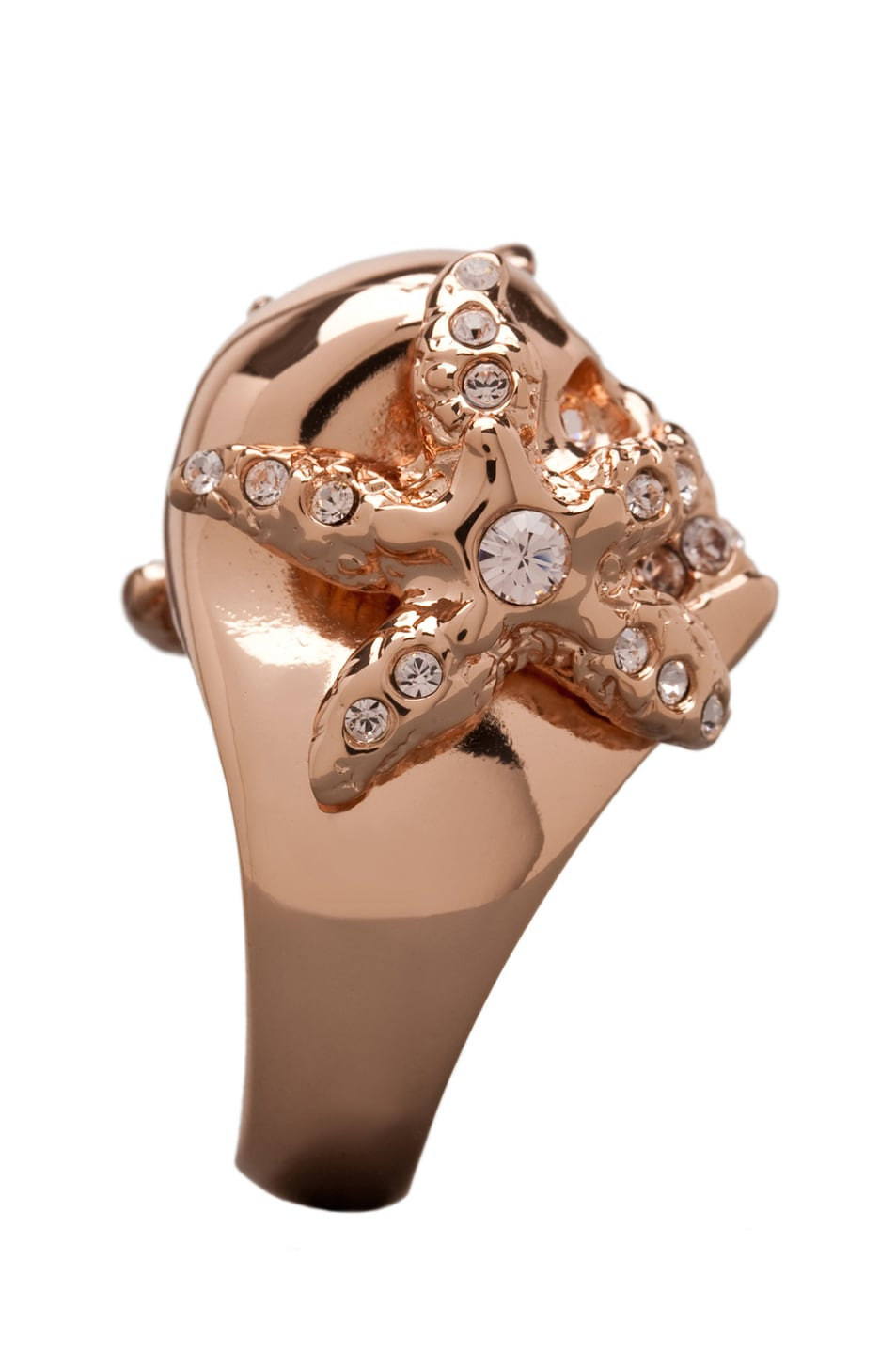 Image 3 of Alexander McQueen Skull Ring in Rosegold