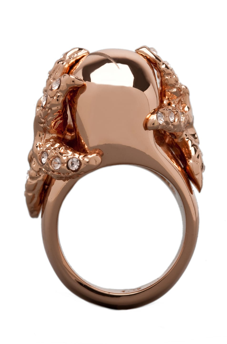 Image 4 of Alexander McQueen Skull Ring in Rosegold