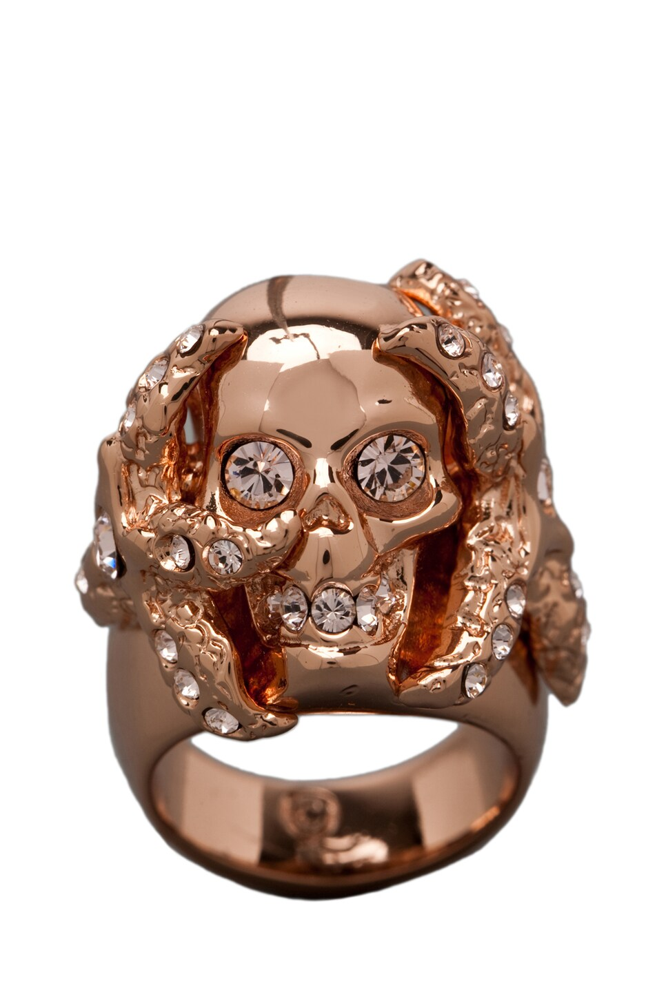 Image 5 of Alexander McQueen Skull Ring in Rosegold