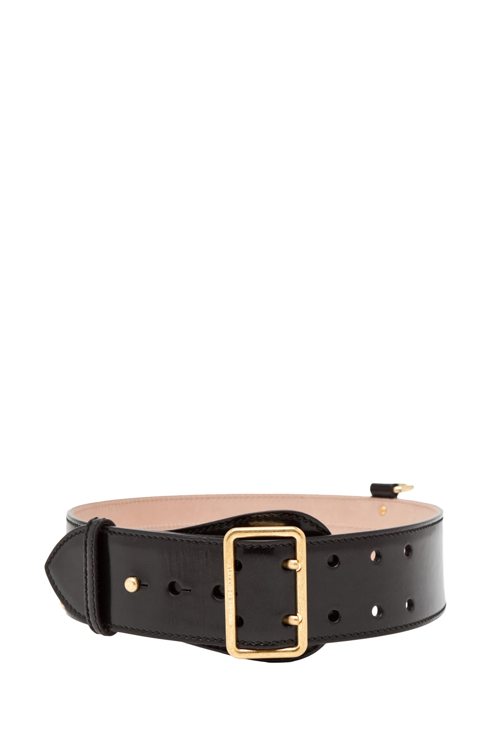Image 2 of Alexander McQueen Waist Belt in Black