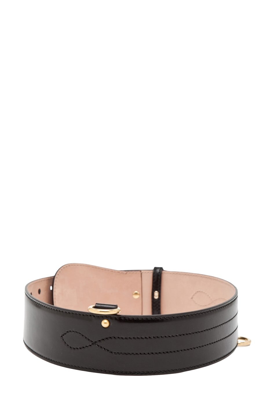 Image 4 of Alexander McQueen Waist Belt in Black
