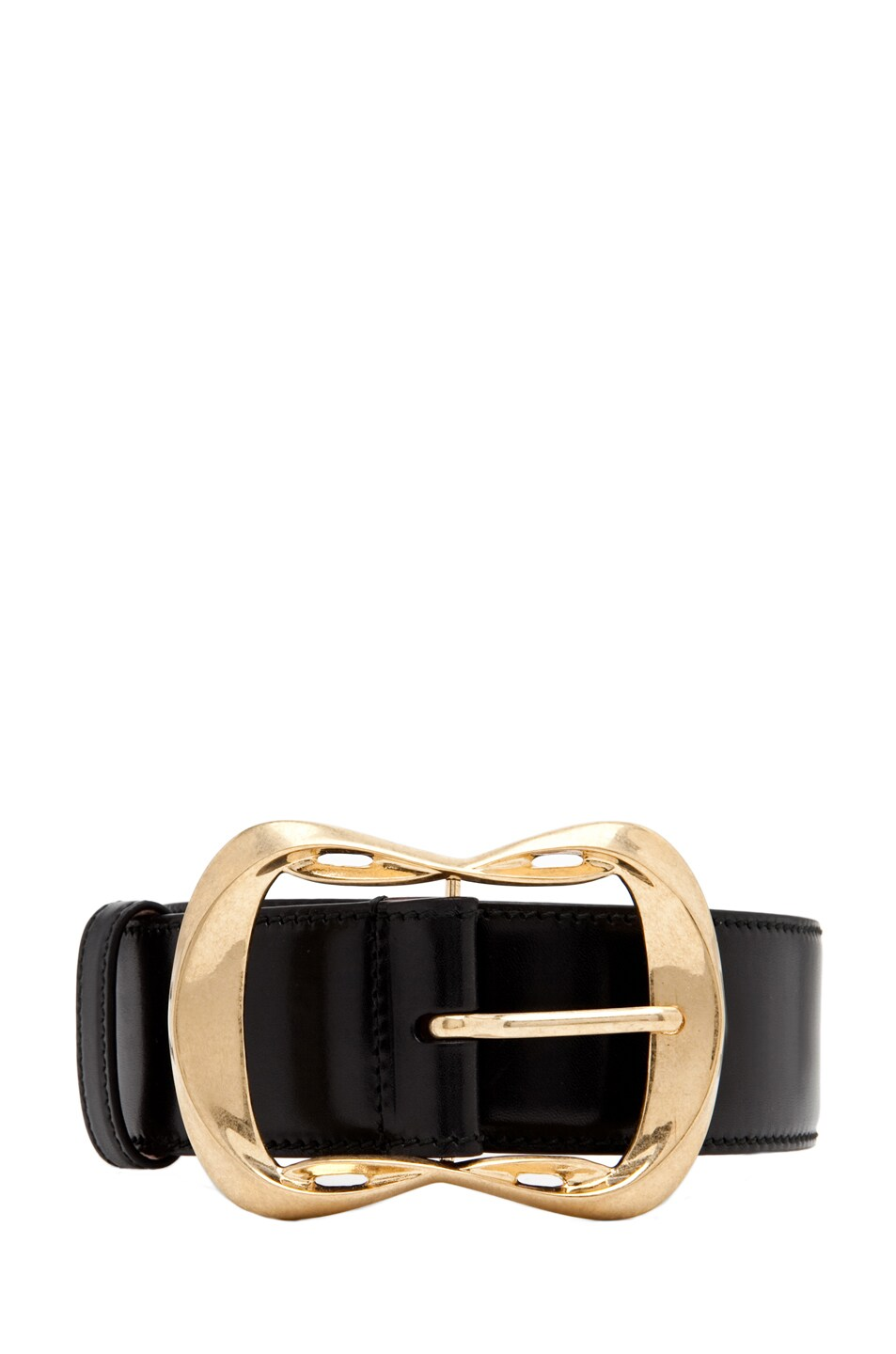 Image 1 of Alexander McQueen Leather Waist Belt in Black