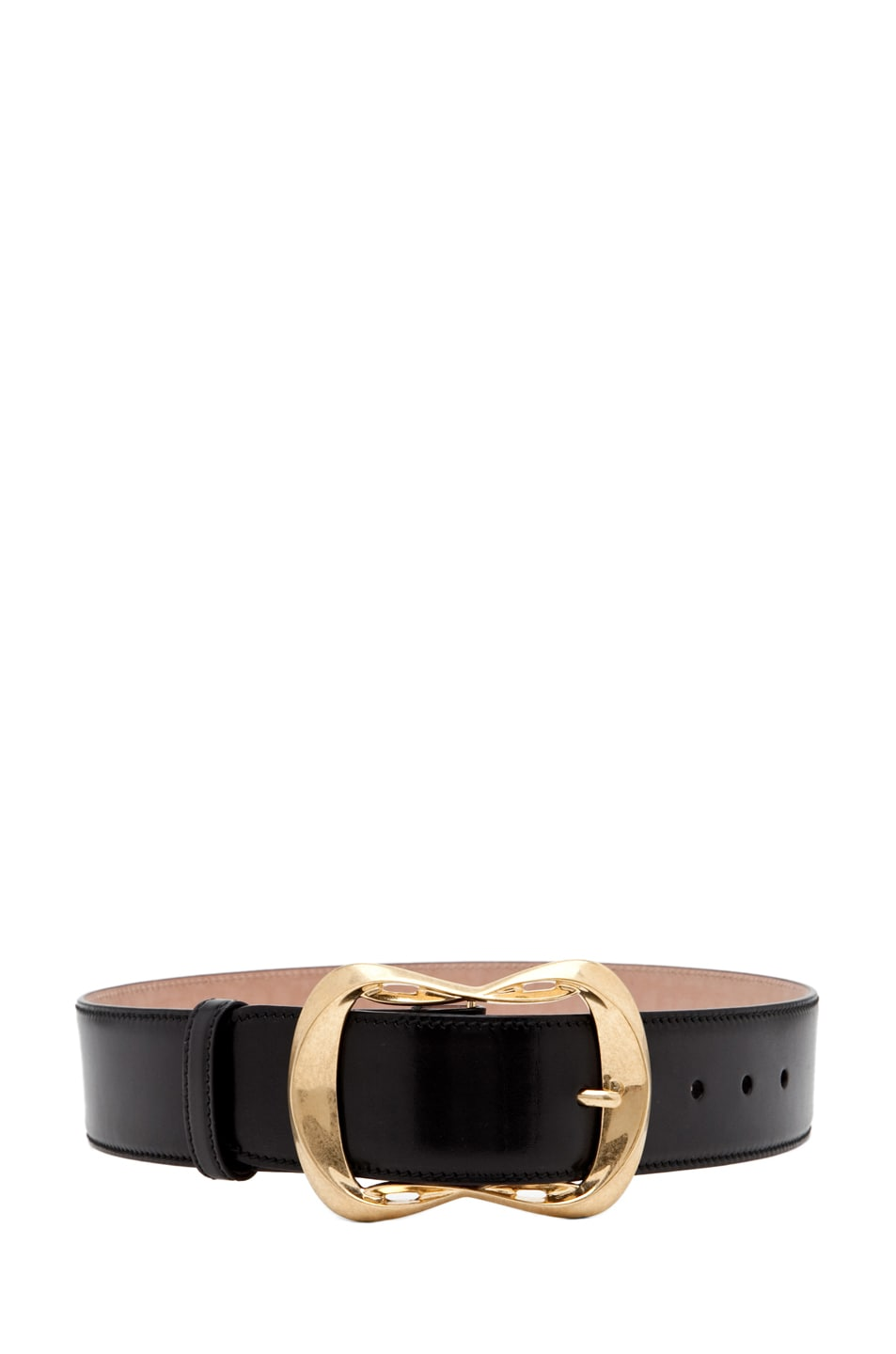 Image 2 of Alexander McQueen Leather Waist Belt in Black