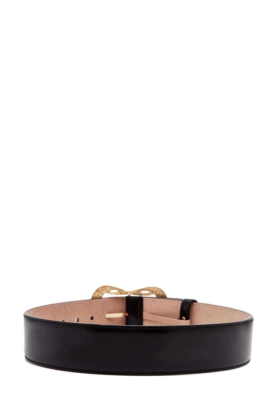 Image 3 of Alexander McQueen Leather Waist Belt in Black