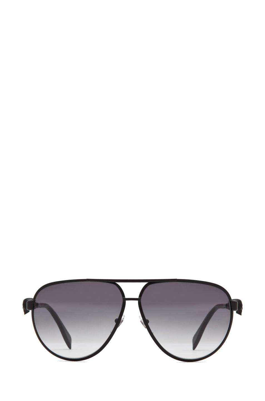 Image 1 of Alexander McQueen 4156 Sunglasses in Matte Black
