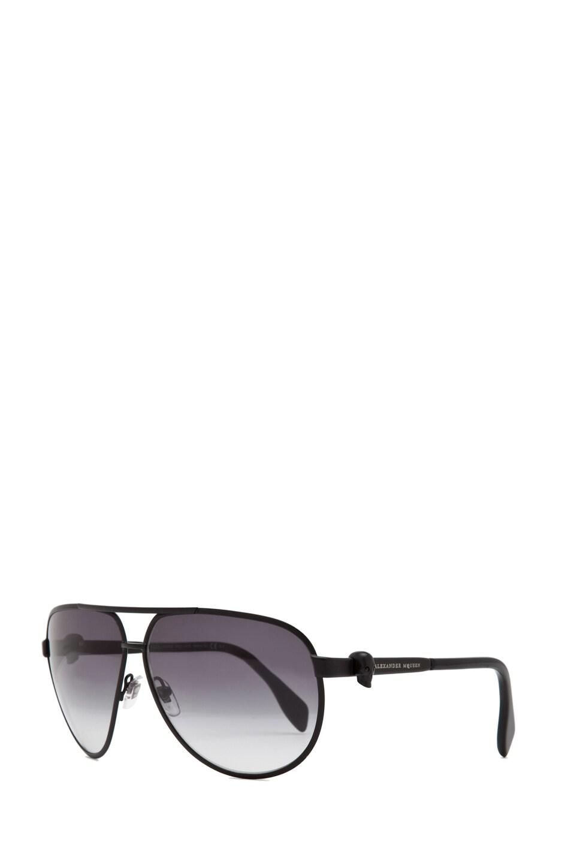Image 2 of Alexander McQueen 4156 Sunglasses in Matte Black