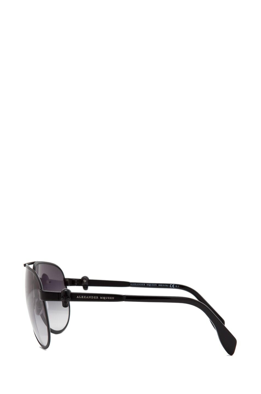Image 3 of Alexander McQueen 4156 Sunglasses in Matte Black