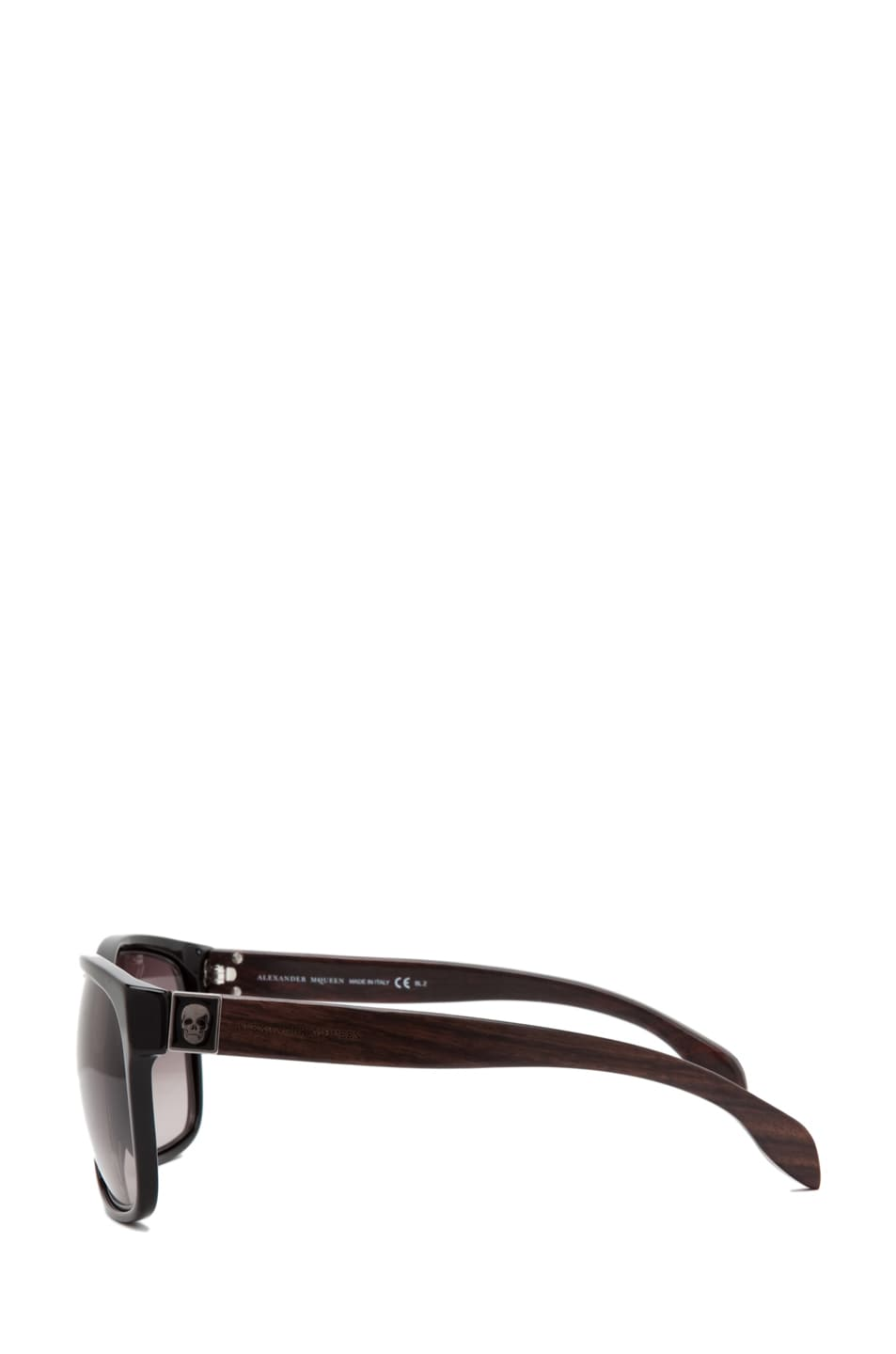 Image 3 of Alexander McQueen 4187 Sunglasses in Black